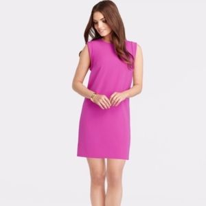 Ann Taylor hot pink shift dress